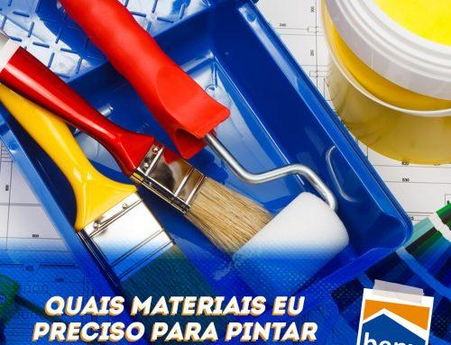Quais materiais eu preciso para pintar minha casa?