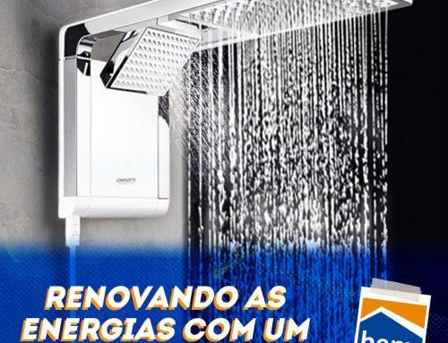 Renovando as energias com um banho inovador